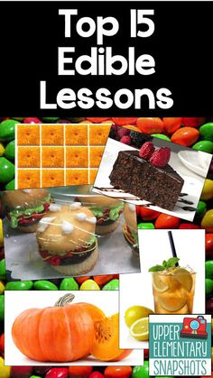 Find lessons to motivate your students using food! They will remember forever!