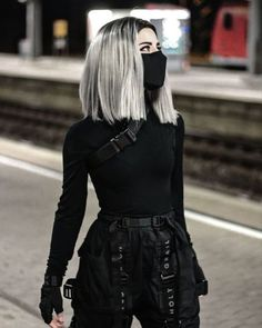 Edgy Outfits, Teen Fashion Outfits, Anime Outfits, Mode Outfits, Grunge Outfits, Cute Casual Outfits, Girl Outfits, Black Outfits, Black Outfit Grunge
