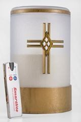 Tribute Flameless Memorial Candle Cross and Remote