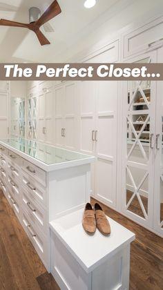 Master Closet Design, Master Bedroom Closet, Wardrobe Design, Custom Closet Design, Walk In Closet Design, Custom Closets, Closet Renovation, Closet Remodel, Dressing Room Design