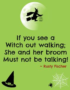 Witches and their stitches... A Halloween poem