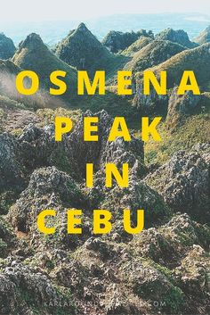 The beautiful view from Osmena Peak, a 20 minute hike for all this in Cebu, Philippines.