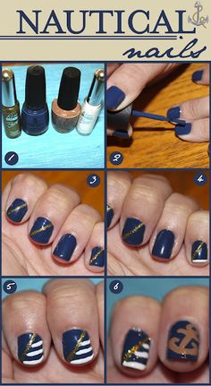 DIY: Nautical Nails