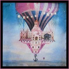 Paper Napkins - Long Way Home - for Party, Decoupage Craft Long Way Home, Paper Napkins For Decoupage, Tissue Boxes, Hot Air Balloon, Decoration, Altered Art, Collage Art, Picture Frames, Art Projects