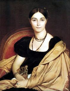 Portrait de Madame Duvaucey by Jean - Auguste Dominique Ingres