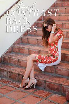 Merrick's Art--- contrast back dress. Love!! @Laura Duarte Gómez let's make these!!!!