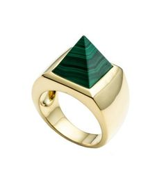 A geometric take on going green (and gold) with malachite. #AvantReady