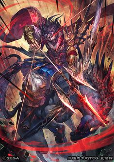 本日発売の三国志大戦TCG第14弾~世代の紲~にて「夏侯惇」描かせていただきました!夏侯惇にはなかなか珍しい弓を構えているイラストになります。どうぞよろしくお願いします~!  http://www.sangokushi-taisen-tcg.com/