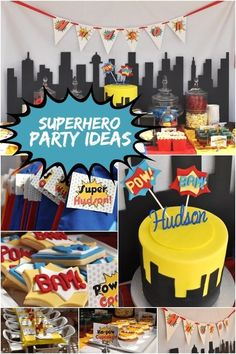 boy's super hero birthday party
