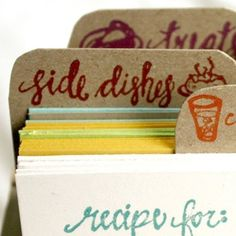 LetterPress recipe card plus holder! Really cute, and it would make an excellent gift!