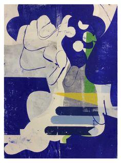 """purgingdistance: """" Monotype Relief Print 76 X 55 cm Vincent Hawkins """""""