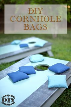 Free step by step tutorial of how to make your own custom cornhole bags. Visit our website for more info and picture.  #cornholebags #diycornholebags #cornhole #buildityourself #outdoorgames #backyard #backyardgames