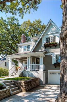 Exterior Gray Paint, House Paint Exterior, Exterior House Colors, Modern Exterior, Exterior Design, Wall Exterior, Grey Paint, House Siding, Grey Siding