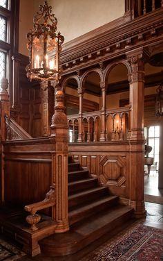 Victorian Interior staircase More