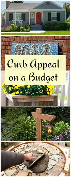 Sometimes we think curb appeal ideas are expensive. There isn't a better place to showcase your clever creativity than where every passerby can see, using DIY curb appeal on a budget. Try these curb appeal projects! Outdoor Projects, Home Projects, Home Improvement Projects, Boho Home, Outdoor Living, Outdoor Decor, Decorating On A Budget, Curb Appeal, The Great Outdoors