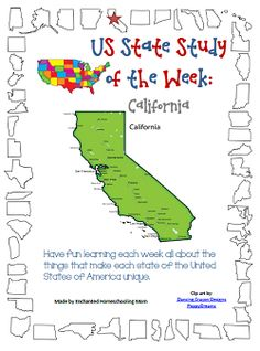 US State Study of the Week Series - California