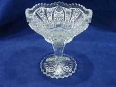 """Vintage Pressed Crystal Glass 5"""" Compote - Estate"""