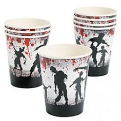 Zombie Party 9-oz Cups (8 Pack)