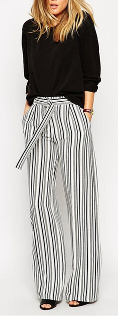 D ring striped pants