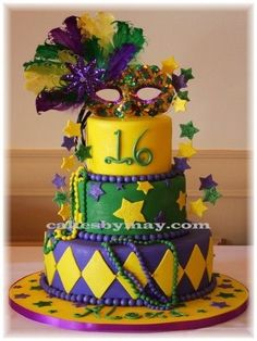 done for a Sweet 16 mardi Gras theme party.  The place looked great with all the Mardi Gras decorations.  TFL