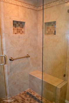 Bathroom Remodel   Tiled Corner Shower With Niche