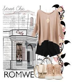 """Romwe Street Chic"" by cheekychops84 ❤ liked on Polyvore featuring T By Alexander Wang, Giuseppe Zanotti and Loree Rodkin"