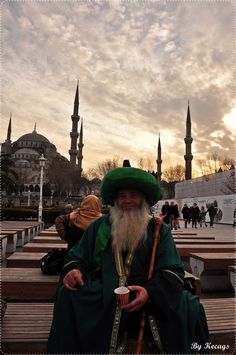 Turkish people have a Sultanahmet Mosque in the background İstanbul Turkey