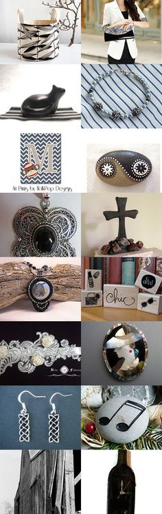 So Black and White by Laurinda Stokes on Etsy--Pinned with TreasuryPin.com