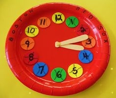 Baseball Clock Plate: Easy craft with any foam stickers.