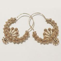 Traditional earrings from Split, Croatia - handmade filigree in gold