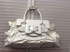 Authentic Gucci White Queen Large Top Handle Satchel Statement Bag $2,990 #Gucci…