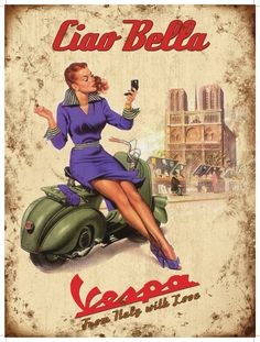 Vintage Italian Posters ~ #Italian #vintage #posters ~ Ciao Bella