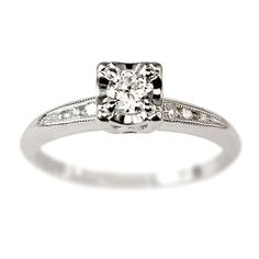 Love this...Marlene Diamond Vintage Engagement Ring circa 1950 | Vintage Engagement Rings | Turtle Love Co. Jewelry