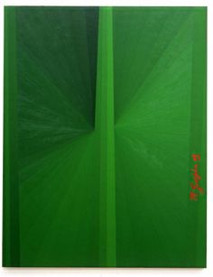 MARK GROTJAHN Untitled (Green Butterfly M. Grotjahn 03 145), 2003 oil on linen 69 x 54 inches
