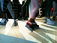 """@k2obykarenko Tweeted: """"Platform sneakers galore! #DEGEN #NYFW"""""""