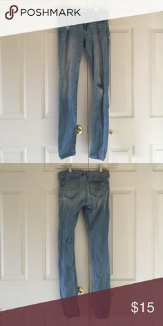 light ripped jeans light ripped jeans, size 16 slim in abercrombie kids abercrombie kids Pants Skinny