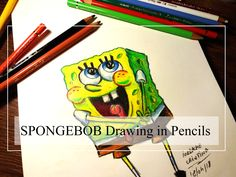 Spongebob drawing - Learn how to draw Spongebob using colored pencils.