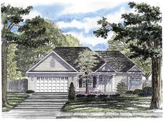 GREAT SPLIT AND OPEN FLOOR PLAN! THIS WOULD BE PERFECT WITH A BASEMENT- AJ - Ranch House Plan 94159