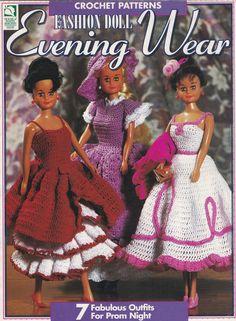 Mode Puppe Abendmode Haus der weißen Birken häkeln Puppe