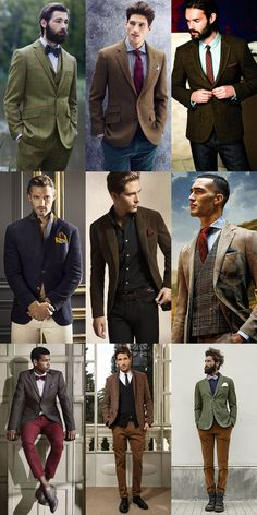 Men's Tweed Blazers and Waistcoats Lookbook