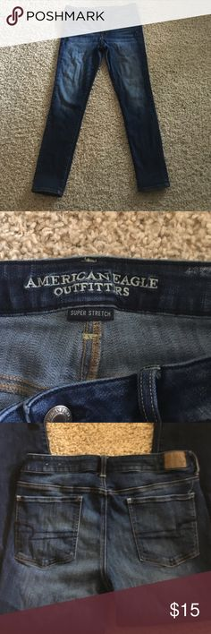American Eagle jegging jeans super stretch American Eagle jeggings super stretch size14 long in great condition American Eagle Outfitters Jeans Skinny