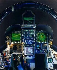 Cockpit of the F-18 Hornet