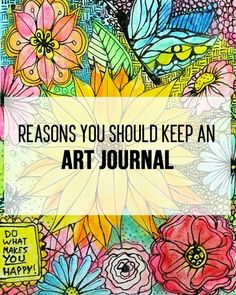 This is the greatest thing I've ever read i need to start making an art journal ASAP. Because i haven't been keeping up with my art lately and i want to get back to that ✨.