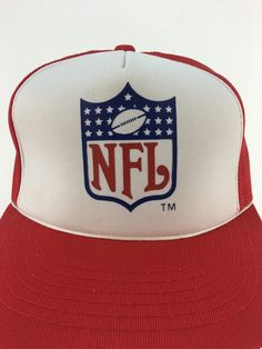 a9b96f9b311 Vintage 80s NFL Mesh Snap-Back Trucker Hat    National Football League     Throwback    Deadstock