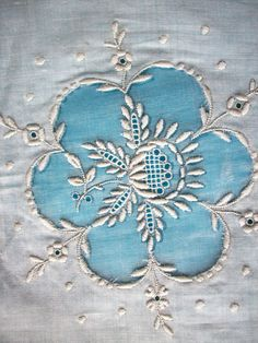 Antique lace embroidery