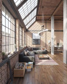 "Interior Design & Architecture (@homeadore) no Instagram: ""Industrial Loft Visualization by Roman Kolyada """