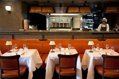 """34, London W1  """"A clubby, tightly-packed Mayfair sibling to Le Caprice and so on, attracting the glitzy clientele you might expect; the cooking, however, isn't yet up to the standards of its nearest sibling, Scotts, though prices are quite reasonable, considering."""""""