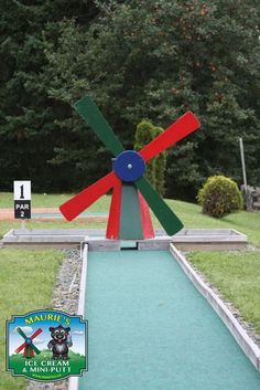 Lots of balls get knocked off course. Putt Putt, Windmill, Knock Knock, Balls, Golf Courses