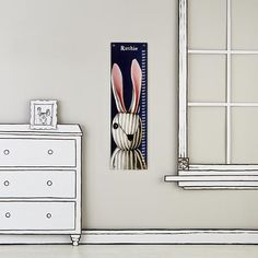 The Land of Nod | Growth Charts: Striped Bunny Growth Chart in Personalized Art