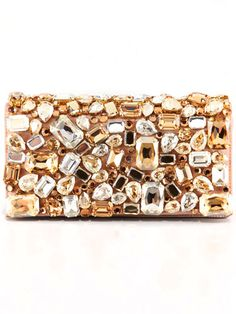 Prada Jeweled Clutch $2,110  The look no only inspires me to do a DIY but the price too !!!